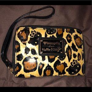 Loungefly Hello Kitty Leopard Wristlet